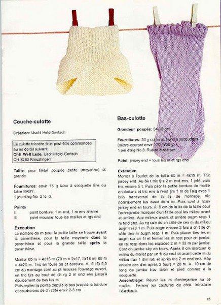 tuto tricot : couche culotte et bas culotte.