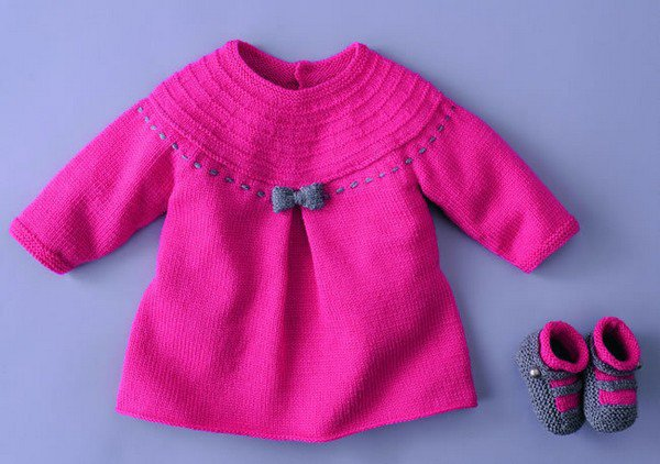 tuto tricot: robes layette.