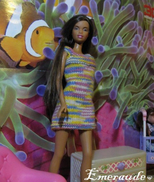 tuto tricot: robe été Barbie.