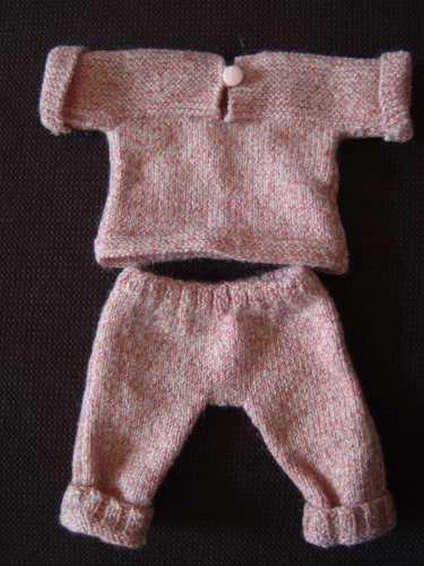 Tuto ensemble tricot pour poupée de 42 cm