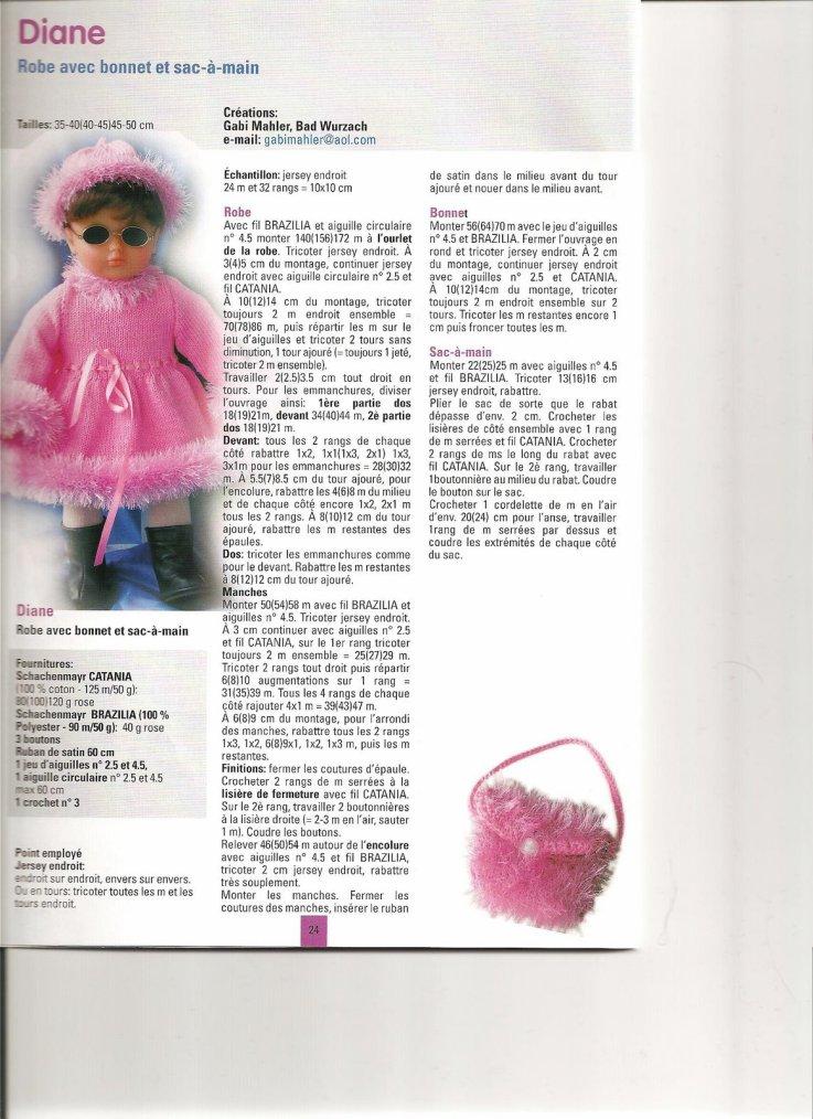 modèle Andréa: une belle robe rose