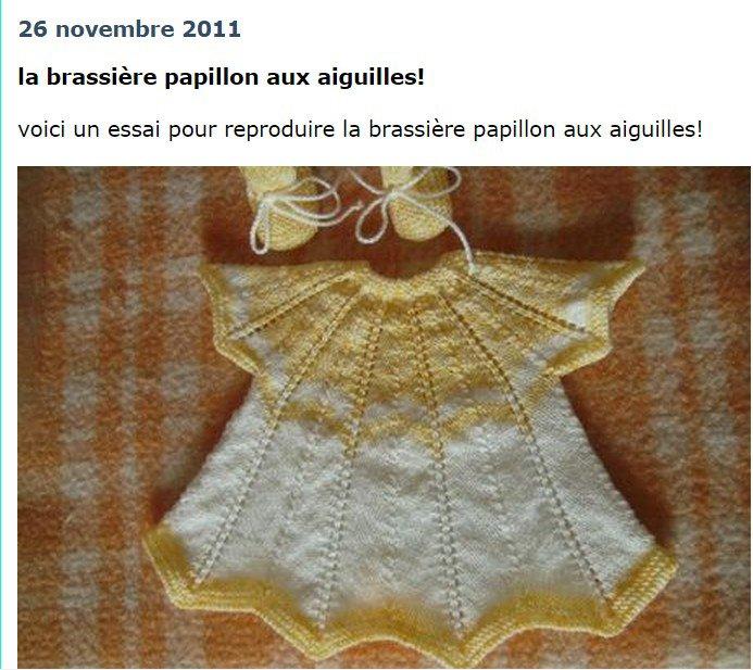 tuto tricot : brassière papillon.