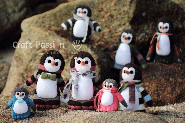 tuto : pingouin chaussette.