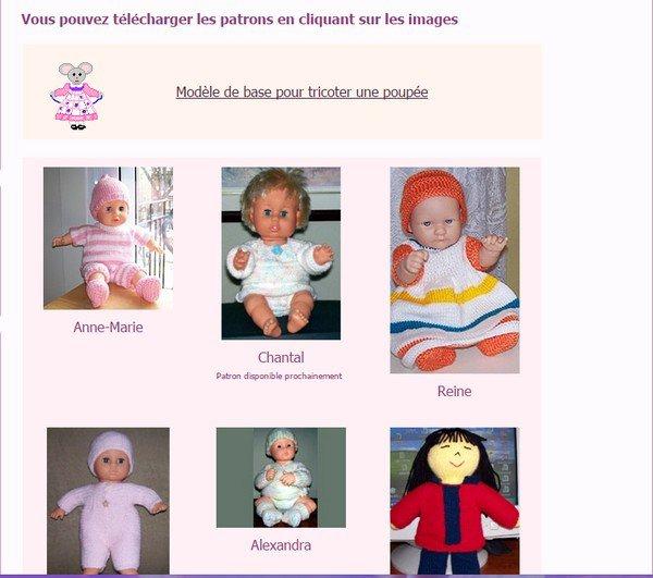 plusieurs tutos pour poupées /poupons