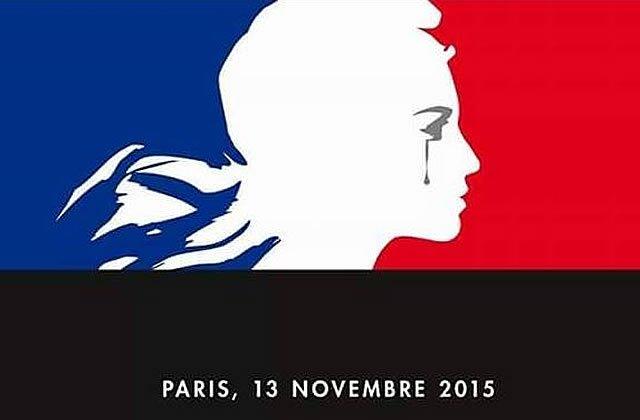 soutient aux personnes de l'attentat à Paris.