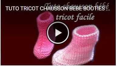 tuto tricot: des  chaussons/ bottes.