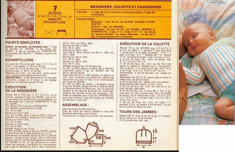 tuto tricot : brassière et culotte pour bébé.