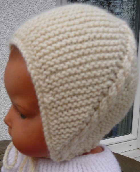 tuto tricot :un joli petit bonnet comme à l'ancienne
