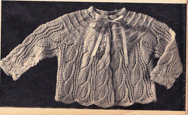 tuto tricot : brassière au point de dentelle année 1958.