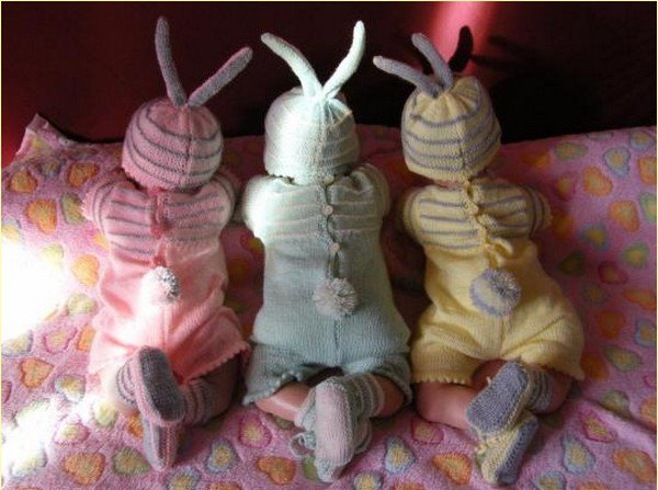 tuto tricot : barboteuse lapin