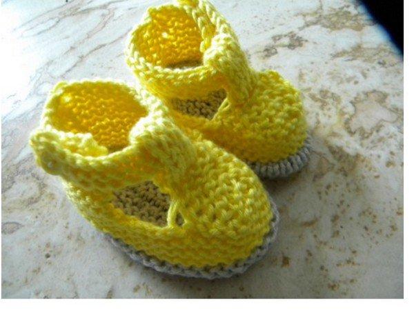 tuto tricot : chaussons à brides.