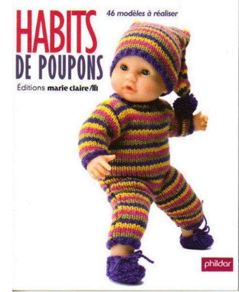 """tuto tricot du livre phildar """" habits poupon """"."""