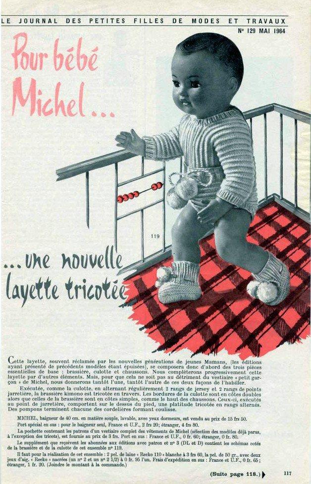 tuto tricot: layette pour bébé Michel.