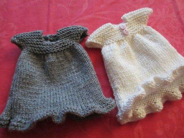 tuto tricot : une robe pour les chéries.