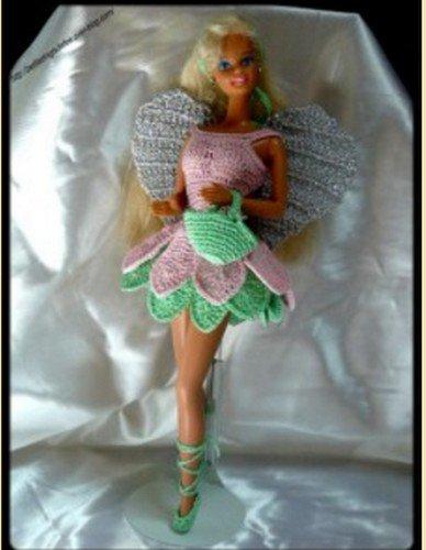 tuto pour Barbie, une robe féerique pour Barbie.