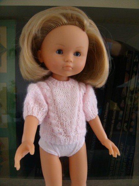 tuto tricot : pull rose pour chérie de corolle.