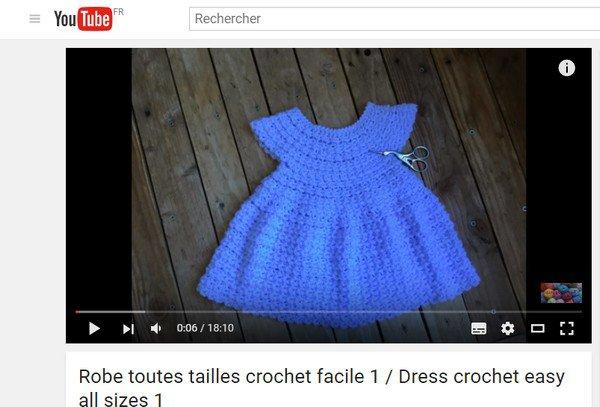 tuto crochet : robe bébé
