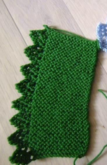 tuto tricot : bordure dentelée.
