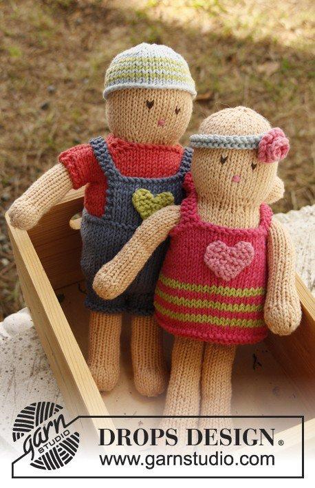 tuto tricot : poupée garçon et ses habits.