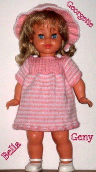 tuto tricot : robe pour poupée bella de 40/45 cm