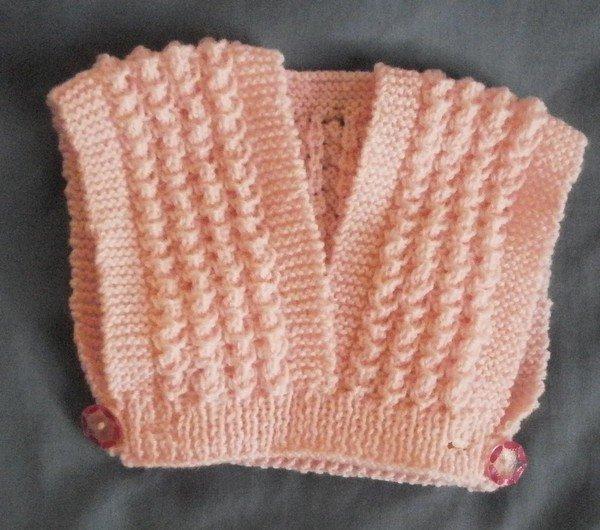 tuto tricot : un cache-coeur.