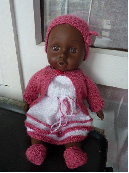 ensemble rose pour poupée de 30 cm.
