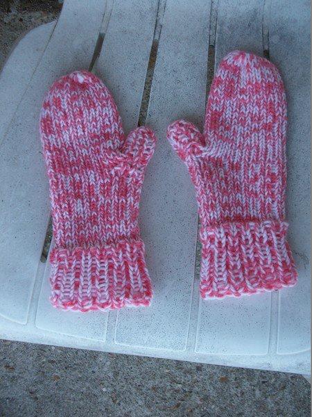 moufles au tricotin
