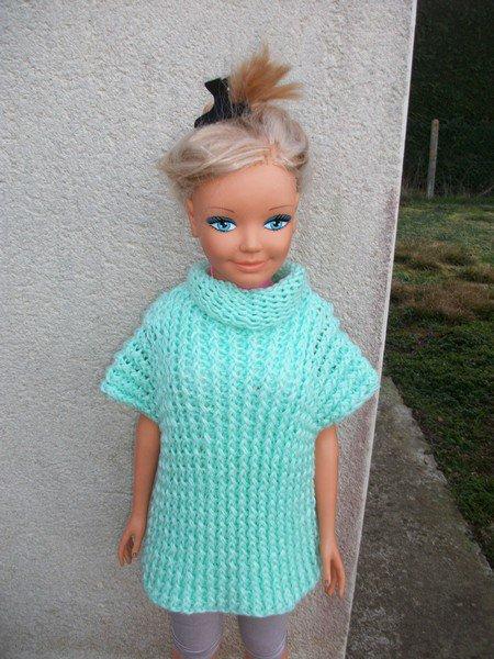 pull à col roulé poupée