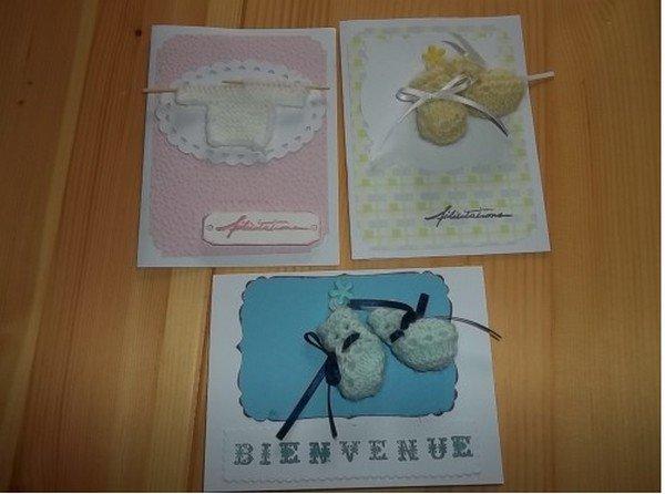 tuto tricot: mini chaussons pour cartes, albums.....