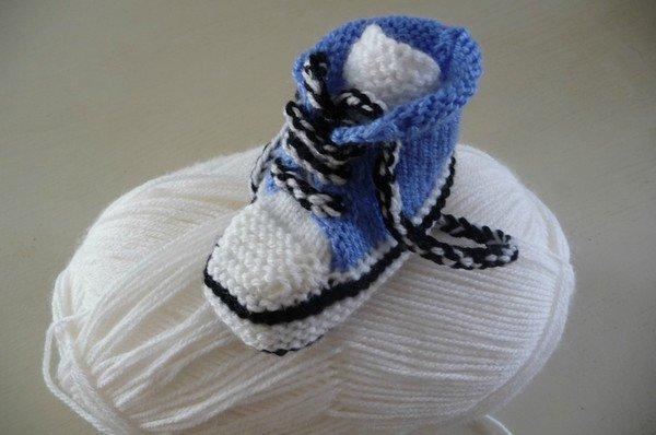 tuto tricot : baskets pour bébé.