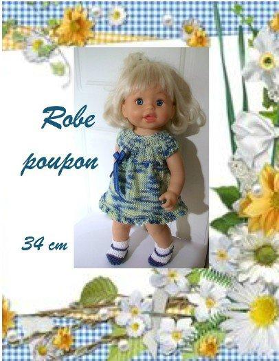 tuto tricot : une robe de saison et ses petits chaussons.