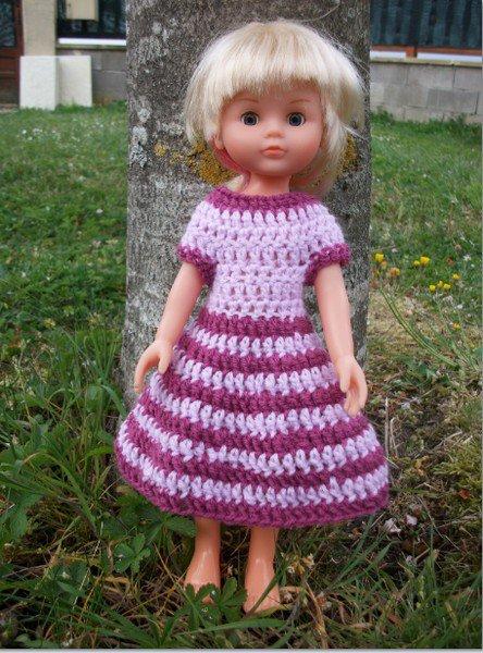 robe bi-couleur au crochet.