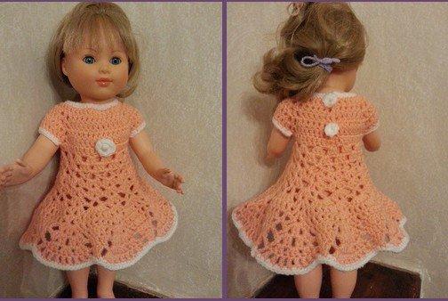 tuto crochet : une jolie robe pour poupée