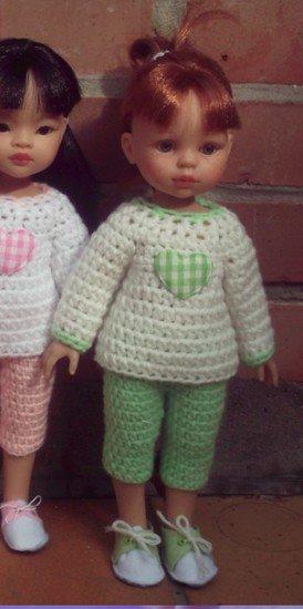 tuto crochet : pull et pantacourt.