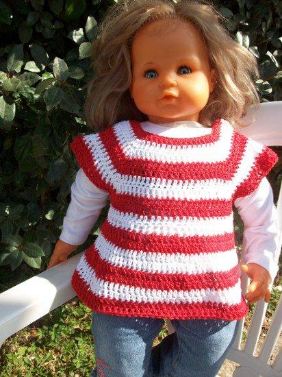 tunique au crochet pour poupée