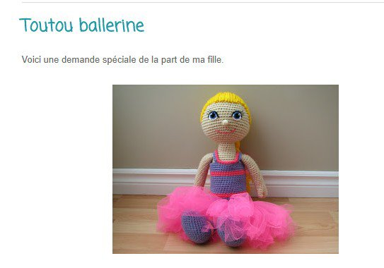 tuto crochet : une poupée ballerine