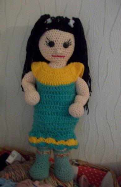 ma deuxième poupée au crochet, Caroline.