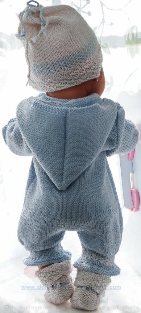 tuto tricot : combinaison, chaussons pour poupon.