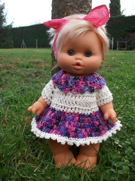 robe en coton et en laine.