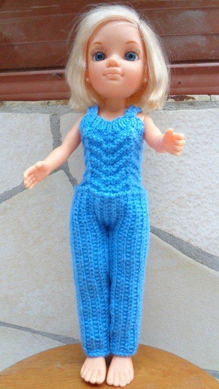 tuto tricot : salopette poupée