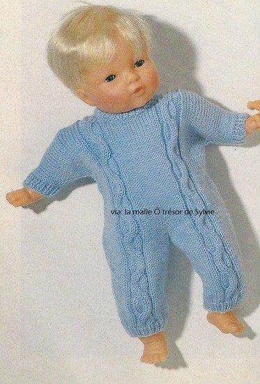 tuto tricot : combinaison poupon.
