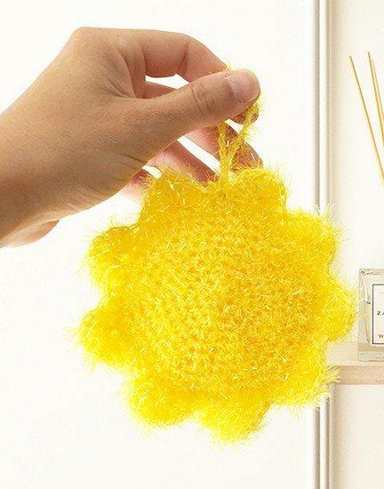 pelote de laine pour faire des éponges.