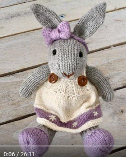 tuto tricot : amigurumi lapine.