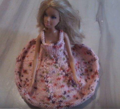 tuto tricot : robe Barbie.