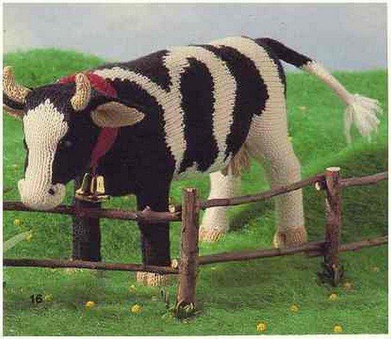tuto tricot : une vache.