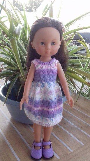 tuto tricot : robe pour poupée chérie.