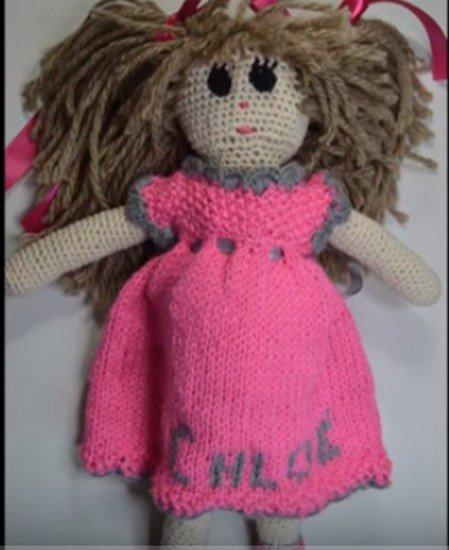 tuto tricot : robe poupée Chloé.