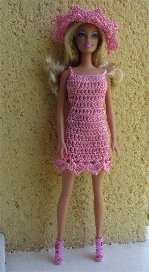 tuto crochet : robe été Barbie.