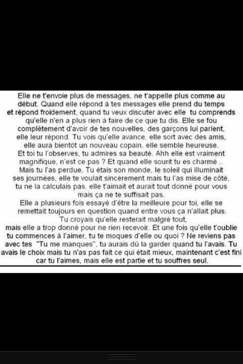 """On se rend compte qu'on aime une personne quand on l'a perdu..♥"""