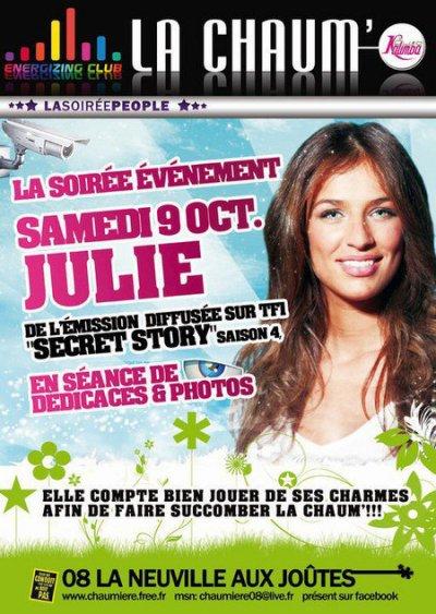 Charlotte en soirée à Rouen hier soir